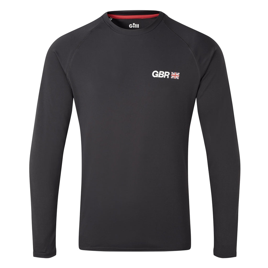 Great Britain SailGP Team: UV Tec Long Sleeve Tee - Charcoal