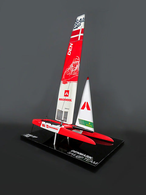 SailGP DENMARK desk model F50 Catamaran replica