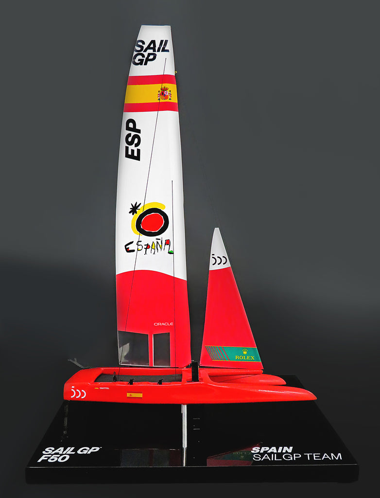 SailGP SPAIN desk model F50 Catamaran replica