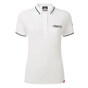 USA SailGP Team: Women's Crew Polo - White (4328038400096)