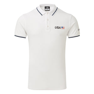 USA SailGP Team: Men's Crew Polo - White (4328038301792)