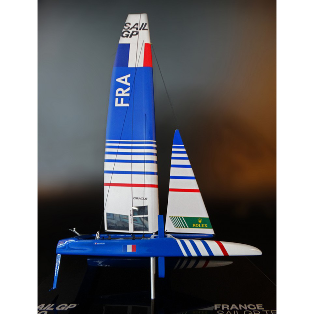 SailGP FRANCE desk model F50 Catamaran replica