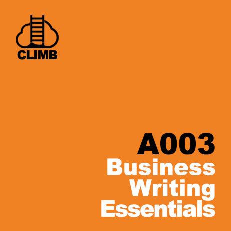 60 min Hospitality Climb class- Business Writing Essentials