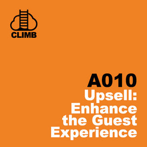 60 min Hospitality Climb class- Upsell: Enhance the Guest Experience