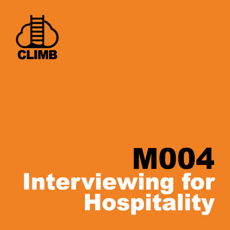 60 min Hospitality Climb class- Interviewing for Hospitality