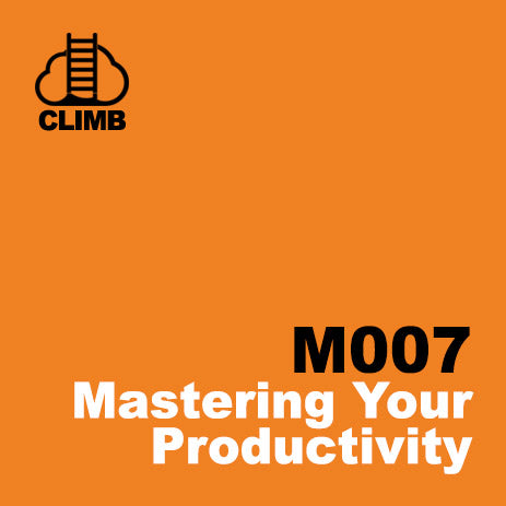 60 min Hospitality Climb class- Mastering Your Productivity