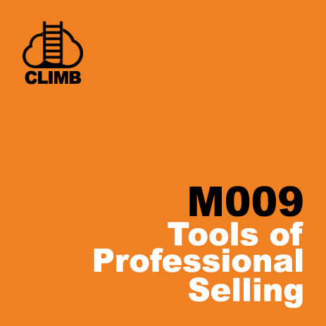 60 min Hospitality Climb class- Tools of Professional Selling