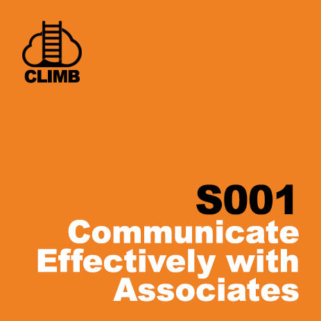 60 min Hospitality Climb class- Communicate Effectively with Associates