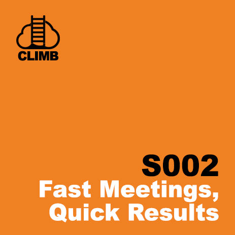 60 min Hospitality Climb class- Fast Meetings, Quick Results