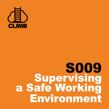 60 min Hospitality Climb class- Supervising a Safe Work Environment