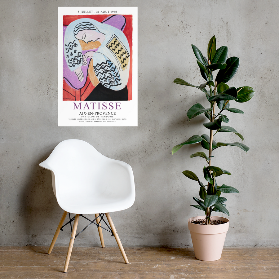 Henri Matisse The Dream - Aix-En-Provence Exhibition Poster - [variant_title] by Art-O-Rama