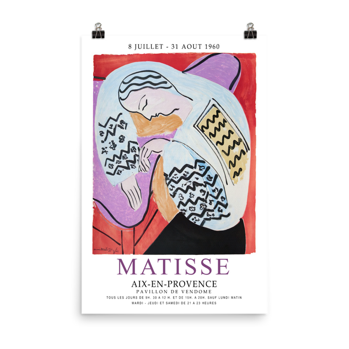 Henri Matisse The Dream - Aix-En-Provence Exhibition Poster
