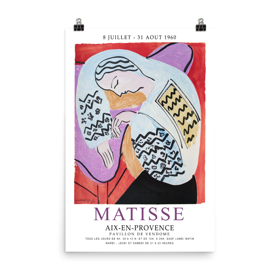 "Henri Matisse The Dream - Aix-En-Provence Exhibition Poster - Matte / 24"" (W) x 36"" (H) by Art-O-Rama"