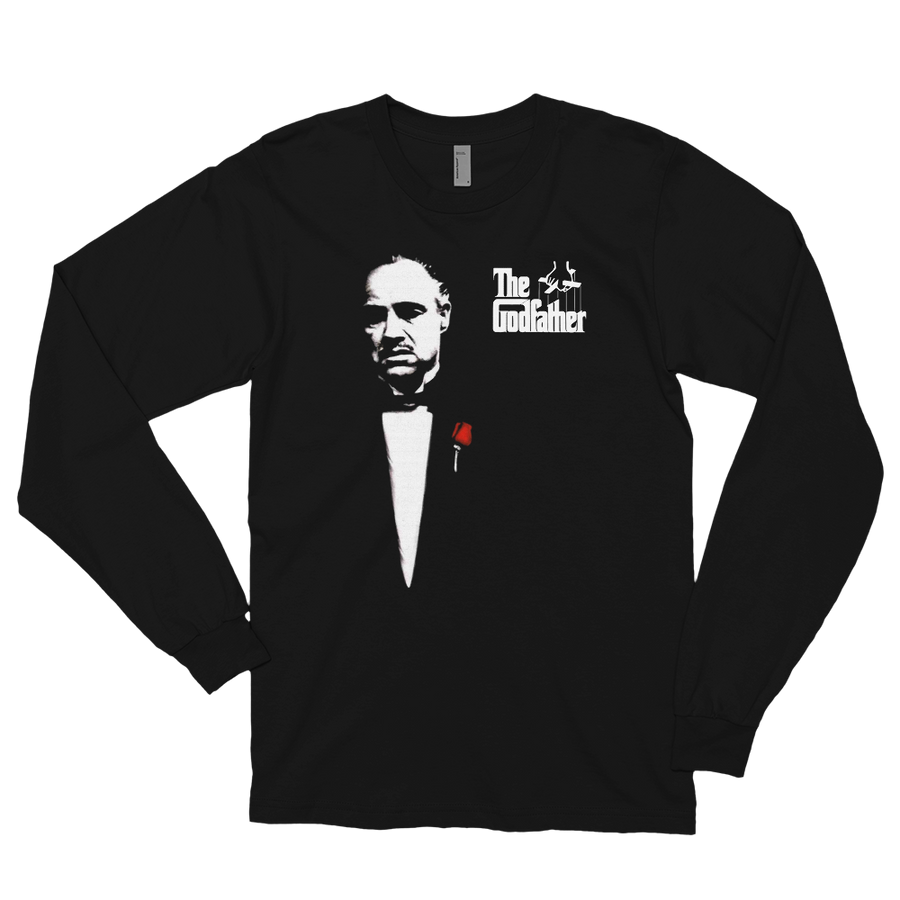 The Godfather 1972 Movie Don Corleone Long Sleeve Shirt - Black / Small by Art-O-Rama