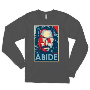 Big Lebowski Abide, Hope Style Long Sleeve Shirt - Asphalt / Small by Art-O-Rama