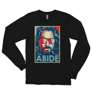 Big Lebowski Abide, Hope Style Long Sleeve Shirt - Black / Small by Art-O-Rama