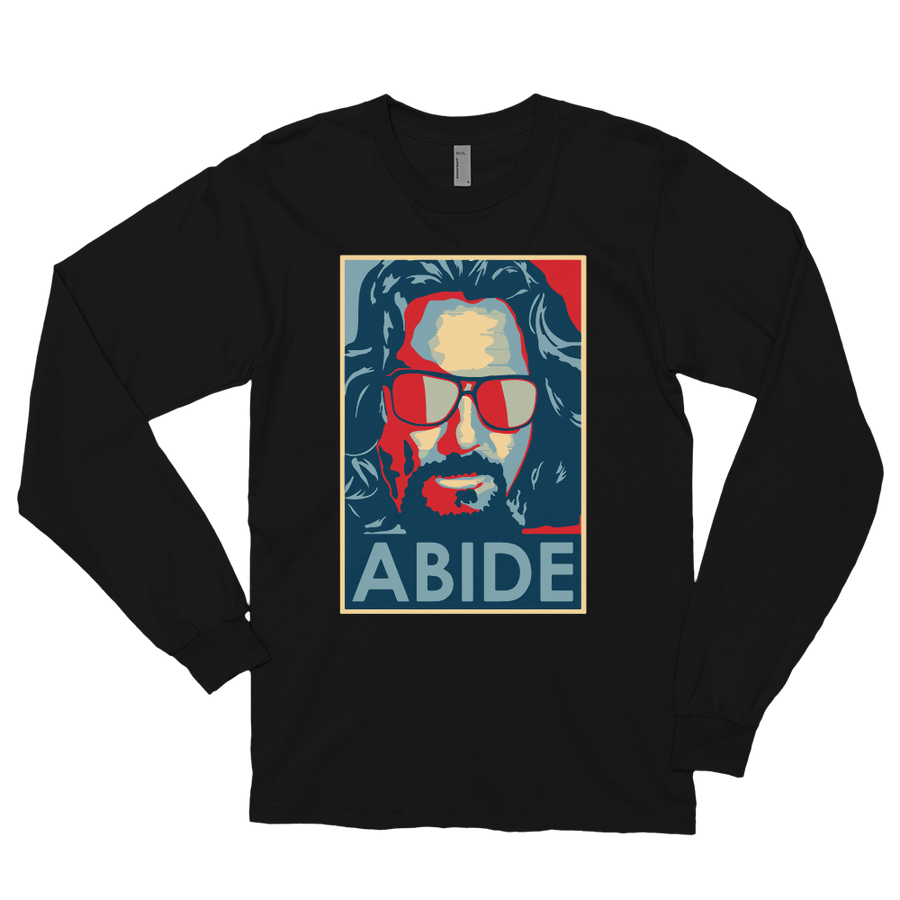Big Lebowski Abide, Hope Style Artwork Long Sleeve Shirt - Art-O-Rama