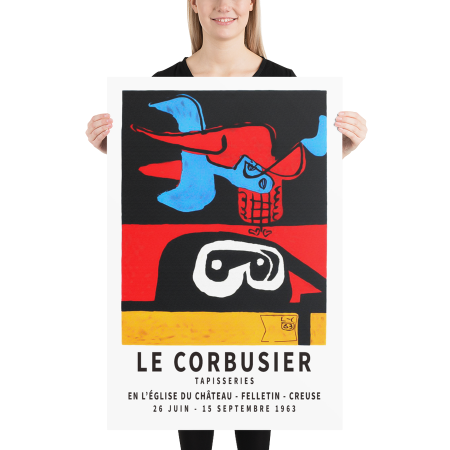 Le Corbusier 1963 Exhibition Artwork Poster - [variant_title] by Art-O-Rama