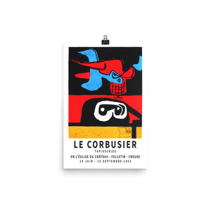 "Le Corbusier 1963 Exhibition Artwork Poster - Matte / 11"" (W) x 17"" (H) by Art-O-Rama"