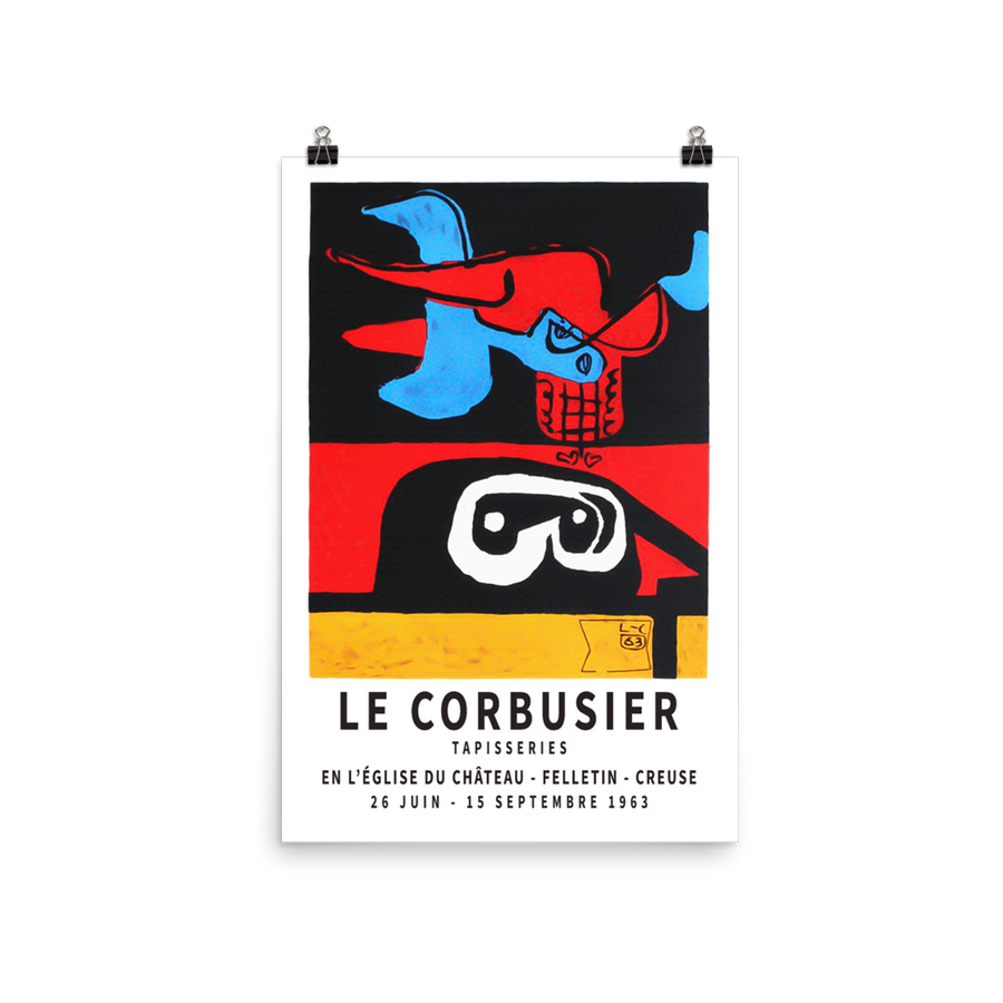 "Le Corbusier 1963 Exhibition Artwork Poster - Matte / 16"" (W) x 24"" (H) by Art-O-Rama"