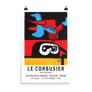 "Le Corbusier 1963 Exhibition Artwork Poster - Matte / 24"" (W) x 36"" (H) by Art-O-Rama"