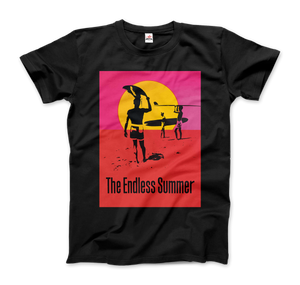The Endless Summer 1966 Surf Documentary Poster Artwork T-Shirt - Men / Black / Small by Art-O-Rama