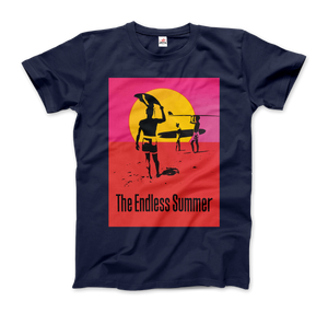 The Endless Summer 1966 Surf Documentary Poster Artwork T-Shirt - Men / Navy / Small by Art-O-Rama