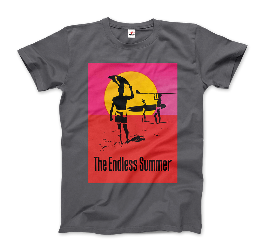 The Endless Summer 1966 Surf Documentary Poster Artwork T-Shirt - Men / Charcoal / Small by Art-O-Rama