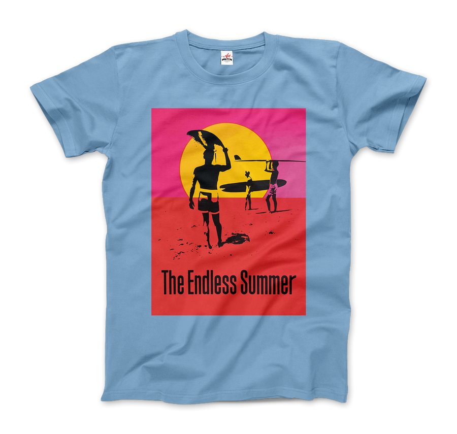 The Endless Summer 1966 Surf Documentary Poster Artwork T-Shirt - Men / Light Blue / Small by Art-O-Rama