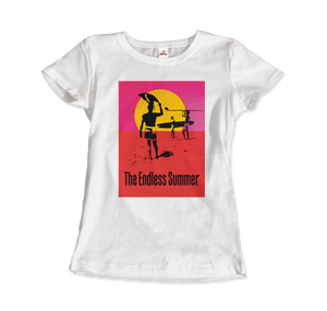 The Endless Summer 1966 Surf Documentary T-Shirt - Women / White / Small by Art-O-Rama