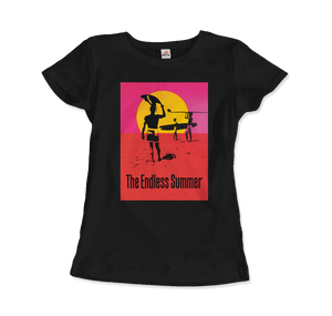 The Endless Summer 1966 Surf Documentary Poster Artwork T-Shirt - Women / Black / Small by Art-O-Rama