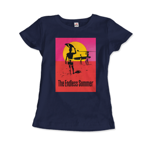 The Endless Summer 1966 Surf Documentary Poster Artwork T-Shirt - Women / Navy / Small by Art-O-Rama