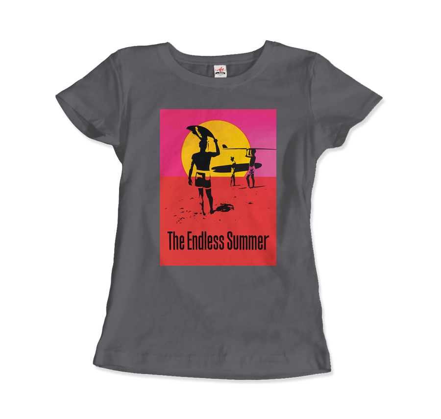 The Endless Summer 1966 Surf Documentary Poster Artwork T-Shirt - Women / Charcoal / Small by Art-O-Rama