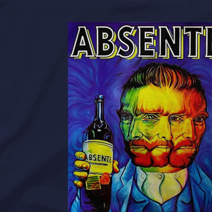 Absente, Vintage Absinthe Liquor Advertisement with Van Gogh T-Shirt - [variant_title] by Art-O-Rama