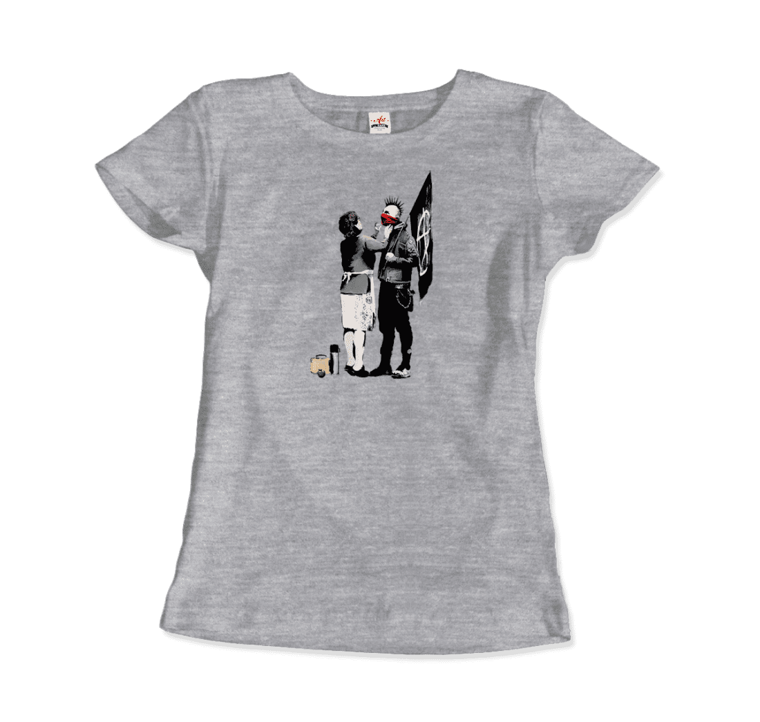 Banksy-Anarchist-Punk-And-His-Mother-Street-Art-Graffitti-Artwork-T-Shirt thumbnail 15