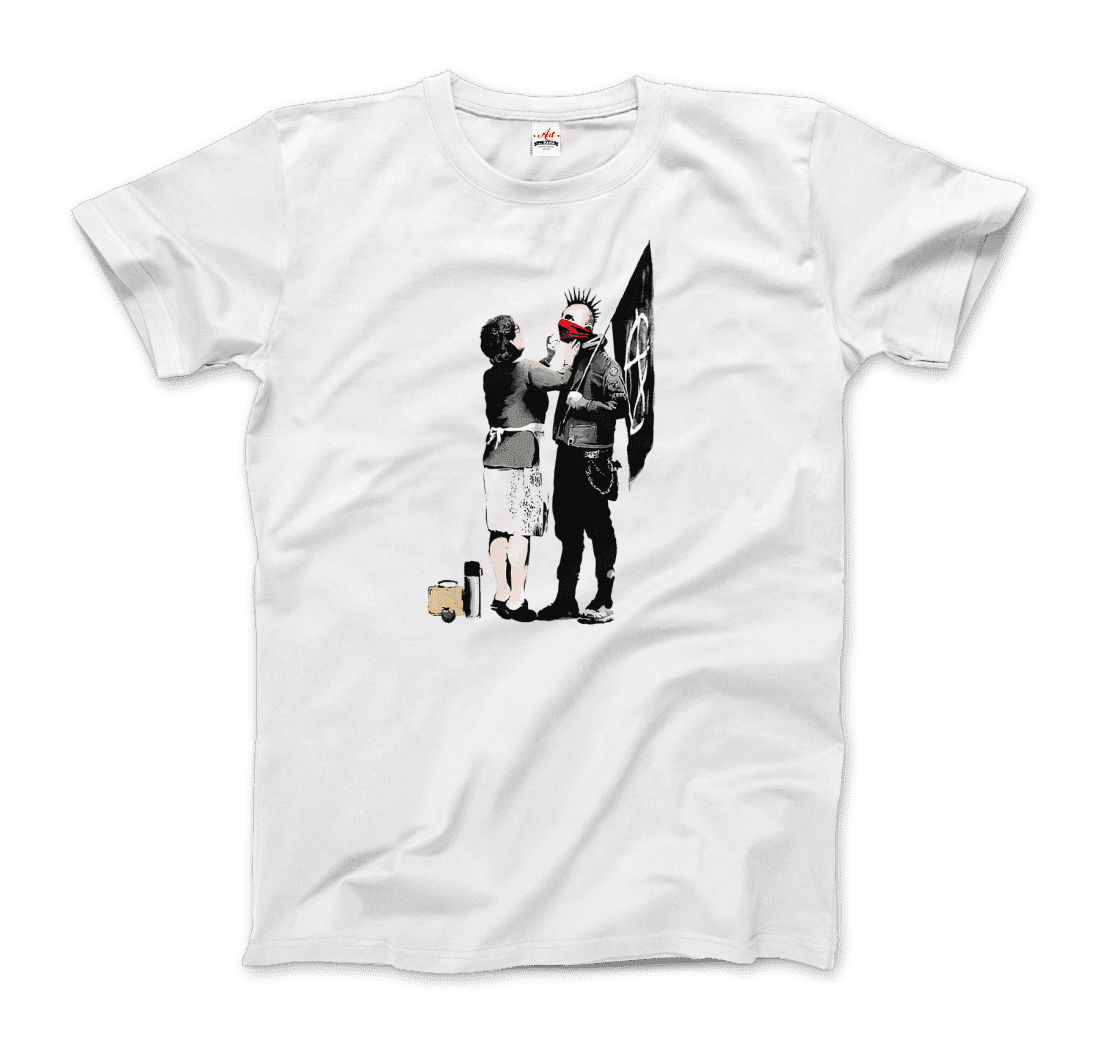 Banksy-Anarchist-Punk-And-His-Mother-Street-Art-Graffitti-Artwork-T-Shirt thumbnail 20
