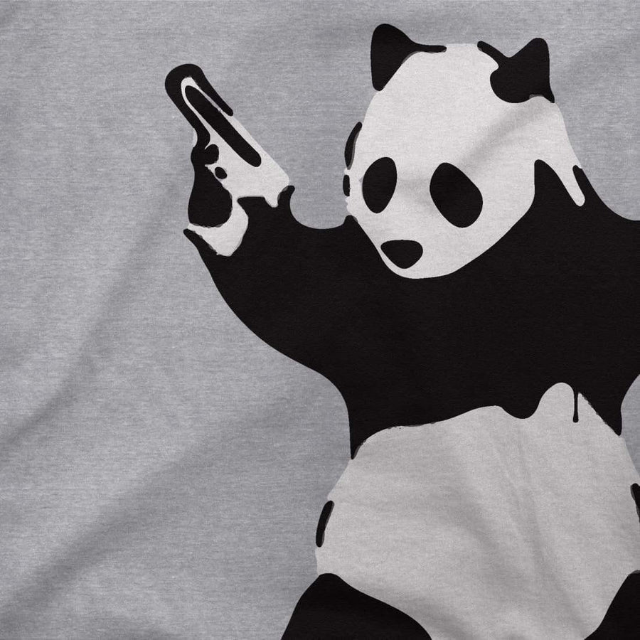 Banksy Pandamonium Armed Panda Artwork T-Shirt - [variant_title] by Art-O-Rama