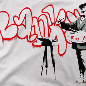 Banksy The Painter (Velasquez) From Portobello Road T-Shirt - [variant_title] by Art-O-Rama