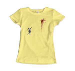 Banksy Valentines Day Mural Reproduction T-Shirt - Women / Spring Yellow / Small by Art-O-Rama