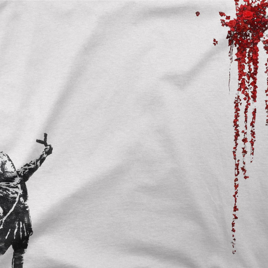 Banksy Valentines Day Mural Reproduction T-Shirt - [variant_title] by Art-O-Rama
