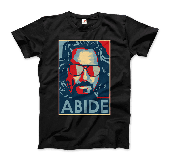 Big Lebowski Abide, Hope Style Artwork T-Shirt - Men / Black / Small by Art-O-Rama
