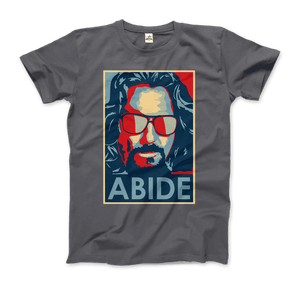 Big Lebowski Abide, Hope Style T-Shirt - Men / Charcoal / Small by Art-O-Rama