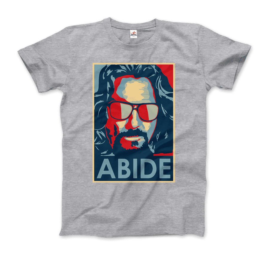 Big Lebowski Abide, Hope Style T-Shirt - Men / Heather Grey / Small by Art-O-Rama
