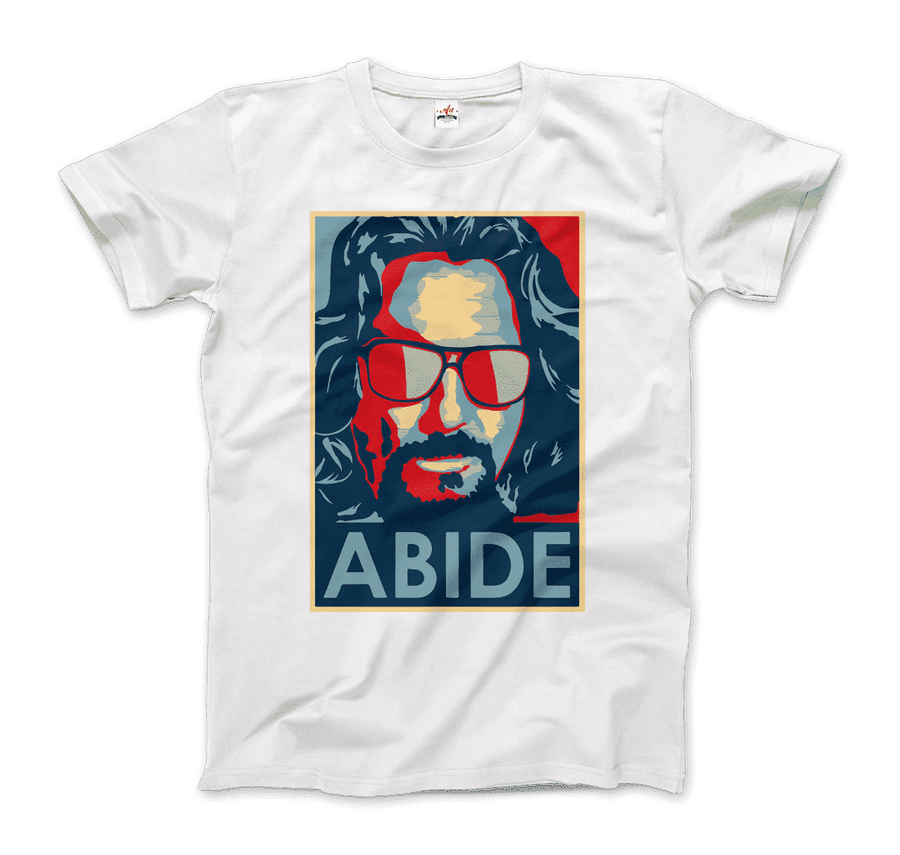 Big Lebowski Abide, Hope Style T-Shirt - Men / White / Small by Art-O-Rama
