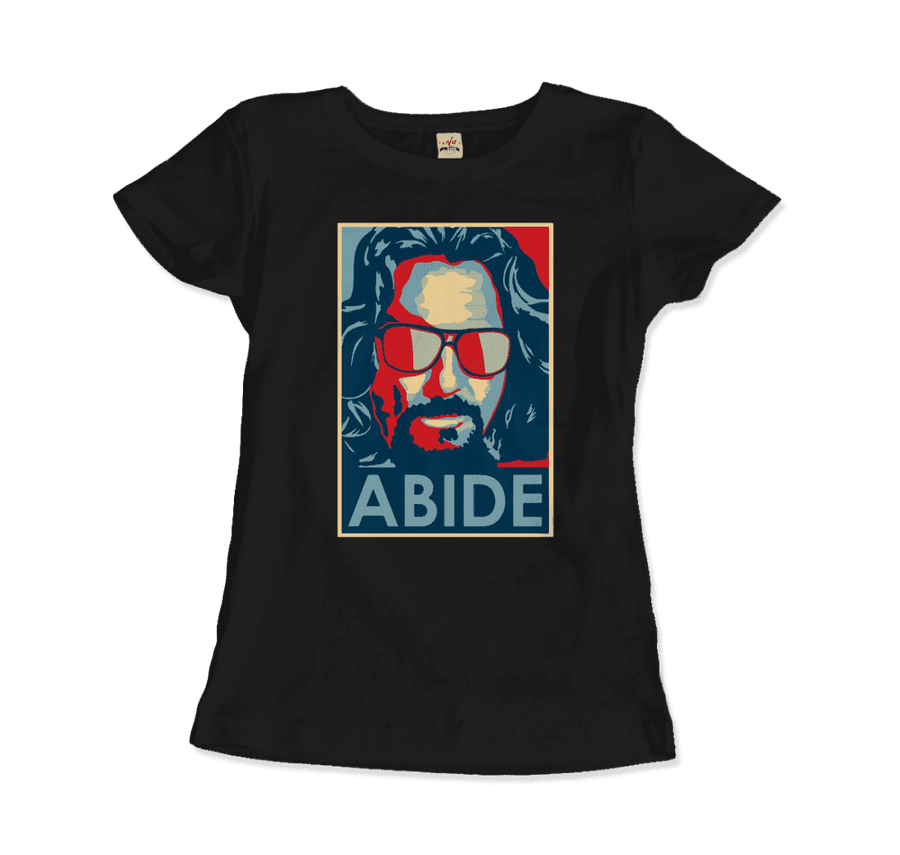 Big Lebowski Abide, Hope Style T-Shirt - Women / Black / Small by Art-O-Rama
