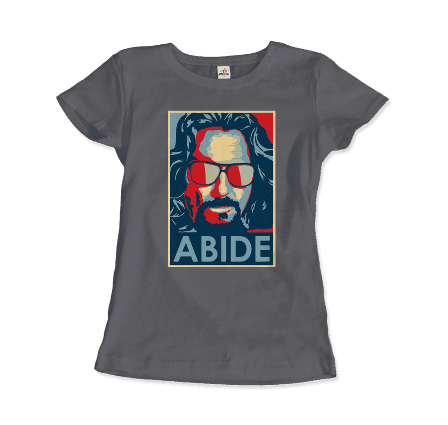 Big Lebowski Abide, Hope Style T-Shirt - Women / Charcoal / Small by Art-O-Rama