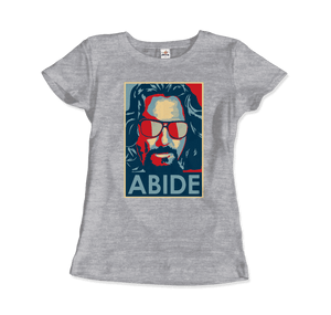 Big Lebowski Abide, Hope Style T-Shirt - Women / Heather Grey / Small by Art-O-Rama