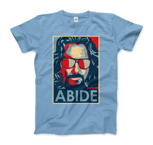 Big Lebowski Abide, Hope Style T-Shirt - Men / Light Blue / Small by Art-O-Rama