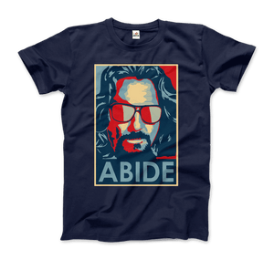 Big Lebowski Abide, Hope Style T-Shirt - Men / Navy / Small by Art-O-Rama