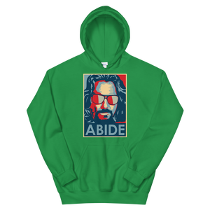 Big Lebowski Abide, Hope Style Artwork Unisex Hoodie - Irish Green / S by Art-O-Rama